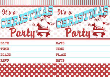 a vintage style christmas party invitation