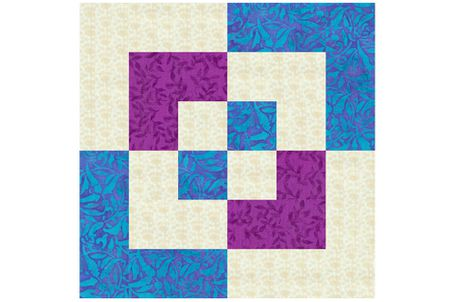 Easy 12 Bento Box Quilt Block Pattern