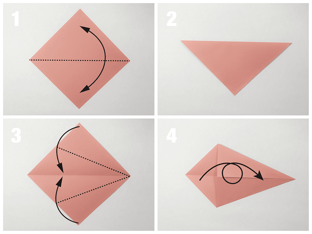 Easy Traditional Origami Fish Tutorial Swan Diagram Embroidery