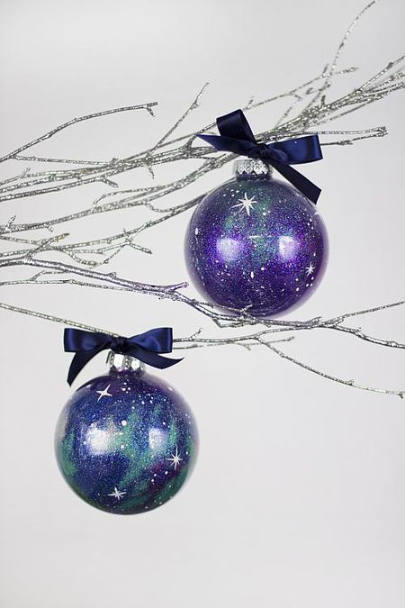 how to fill clear glass ornaments ornament galaxy - Glass Christmas Bulbs For Decorating