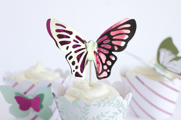cupcake with butterfly topper