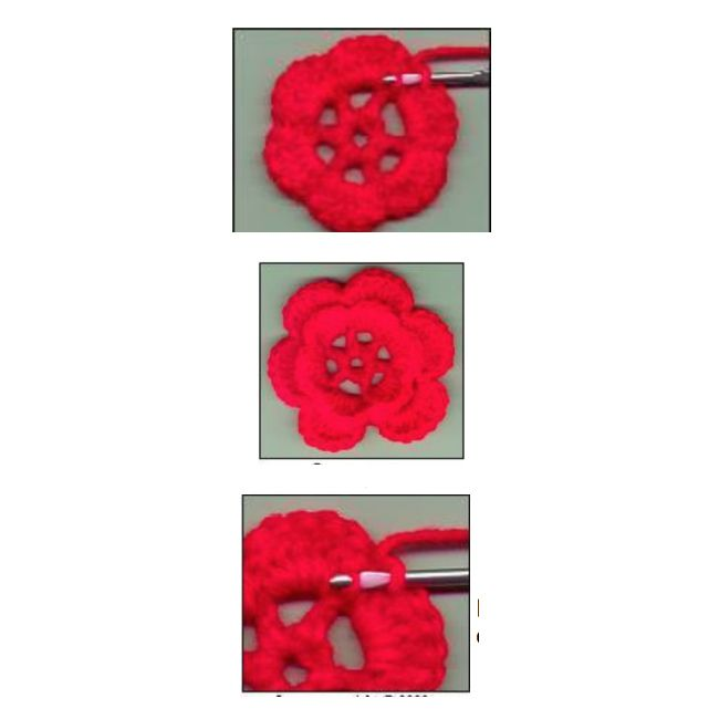 Irish Rose Crochet Flower