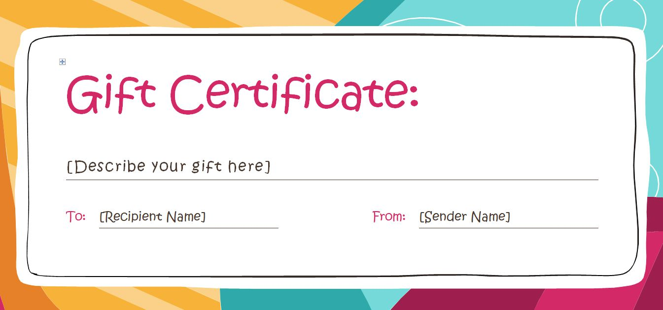 Free Gift Certificate Templates You Can Customize - Downloadable gift certificate template