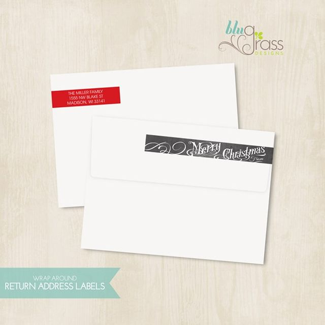 Christmas Address Label Templates From We Heart Parties