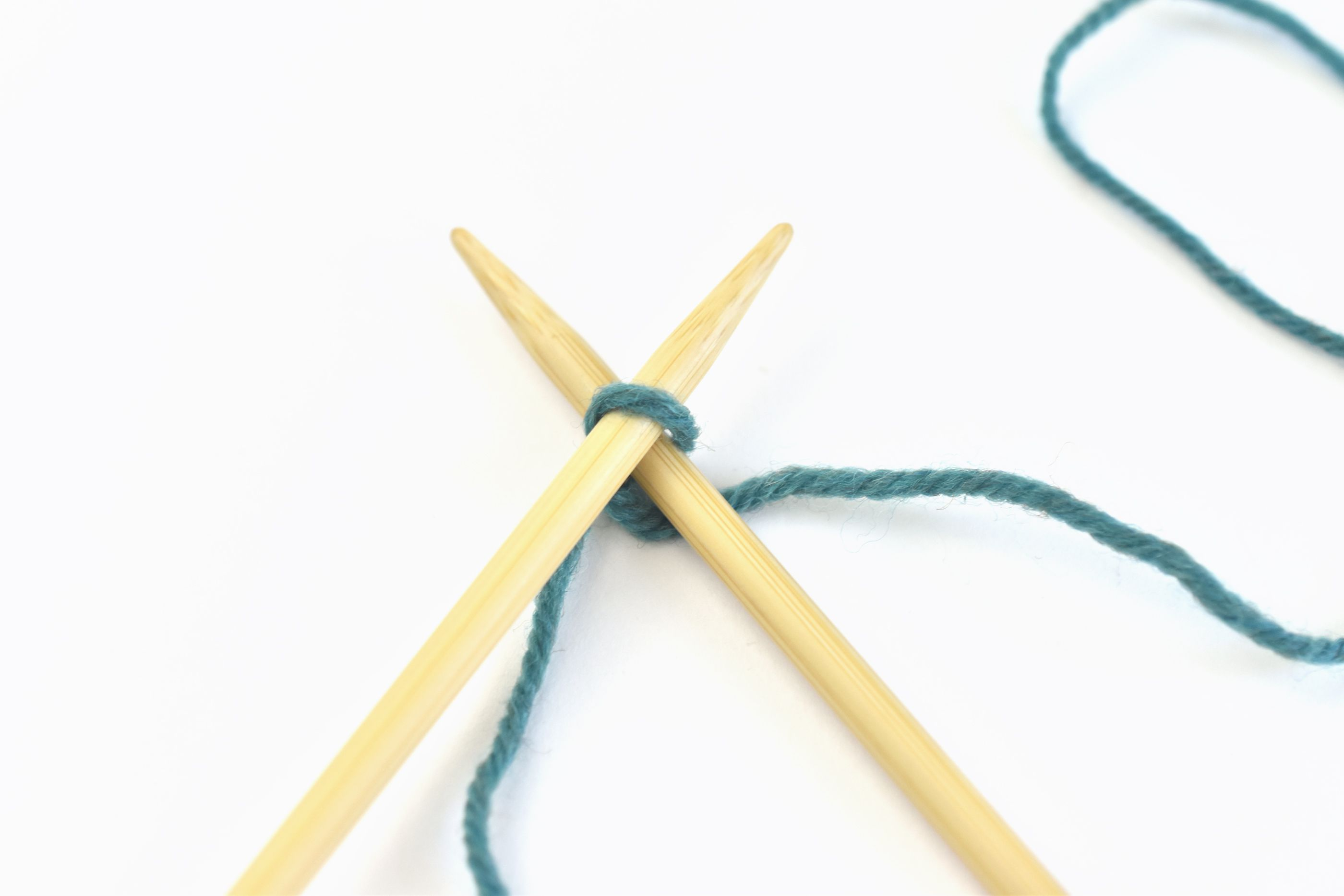 Insert the Right Needle in the Slip Knot