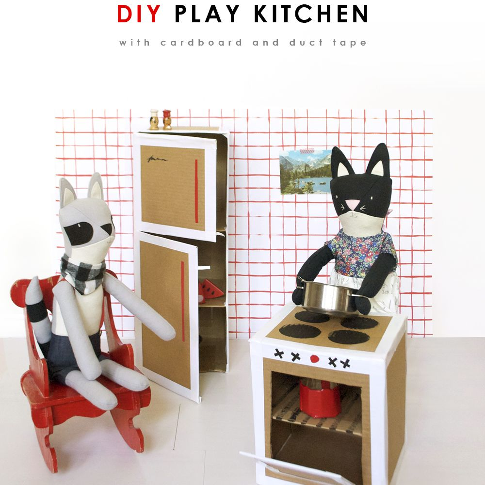 Cardboard Play Kitchen