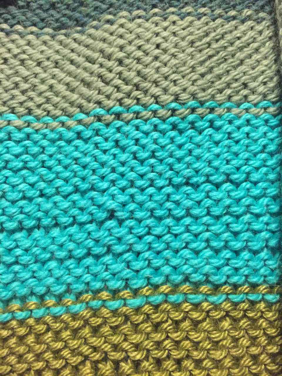 Reverse Stockinette Stitch is just like regular Stockinette except what is usually thought of as the back is the front.