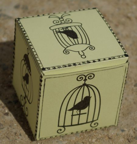 cube box template for rubber stamping
