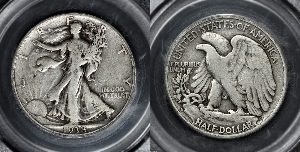 Walking Liberty Half Dollar Graded Fine-12 (F12)