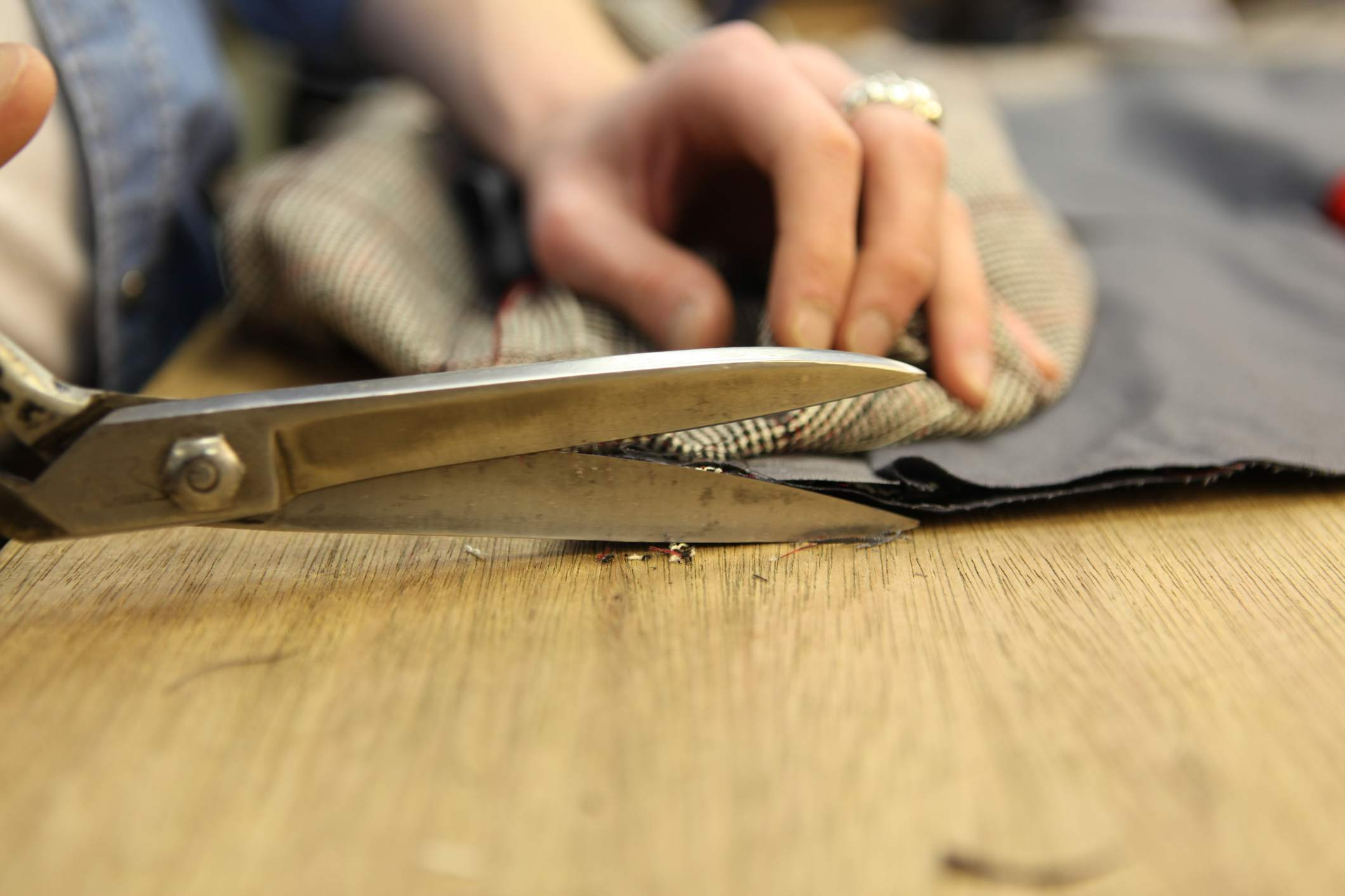 Cutting with shears