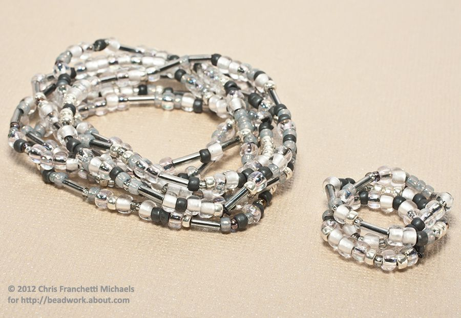 Stretch bracelets and matching stretch rings