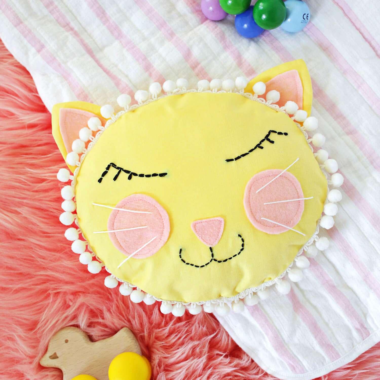 Cat Face Pillow