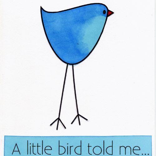 A Little Bird Told Me Digital Stamp