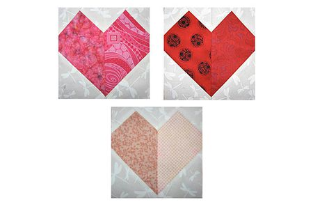 Patchwork Hearts Quilt Block Pattern Classy Heart Quilt Pattern