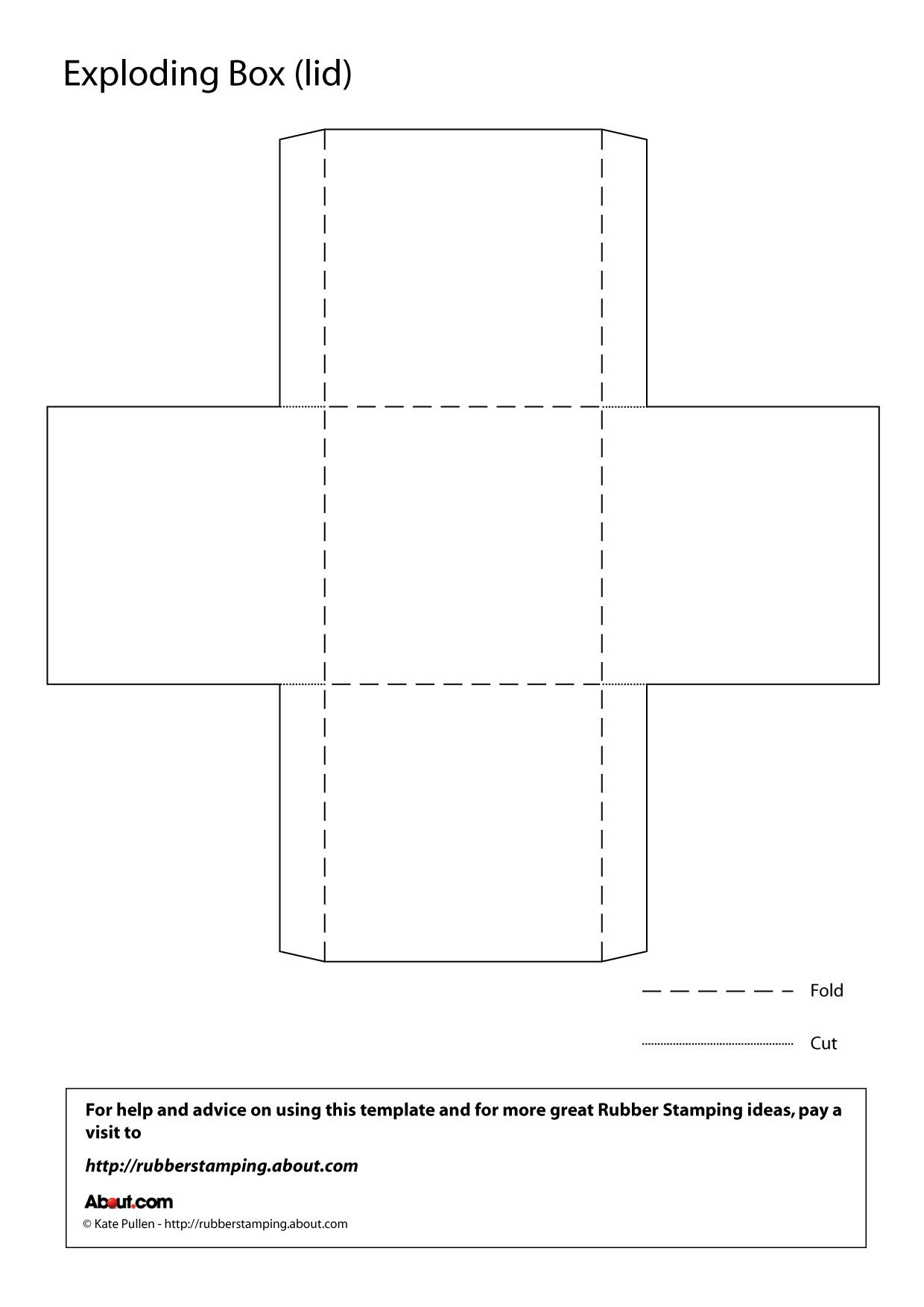 Make An Exploding Box With This Free Printable Template