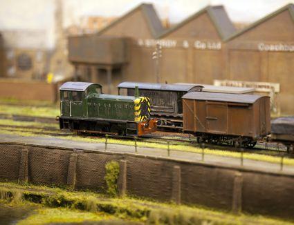 Model railroad, diesel shunter