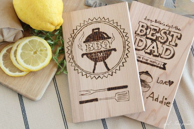 DIY Father's Day Wood Grilling Planks