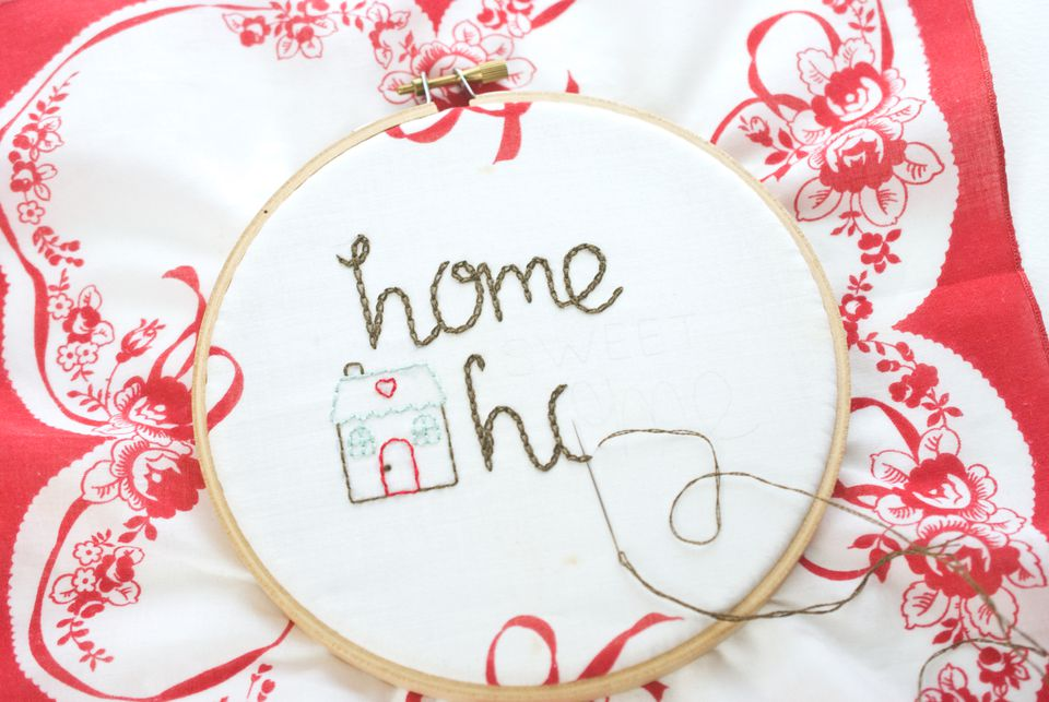 Embroider the Home Sweet Home Design