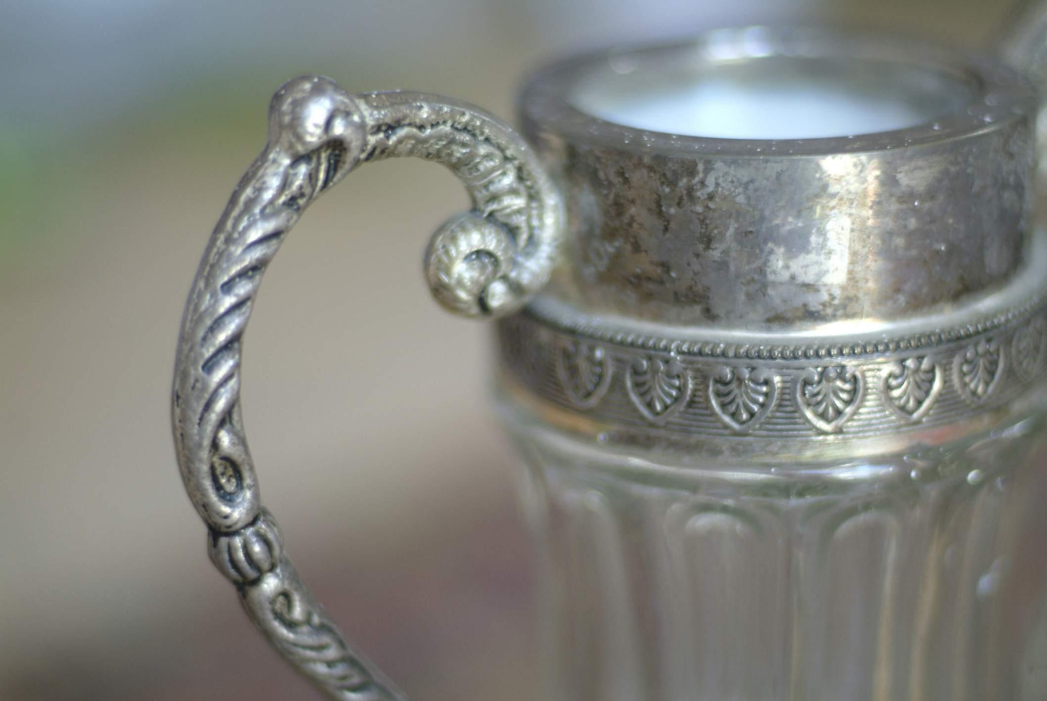 Markings on a silver pot