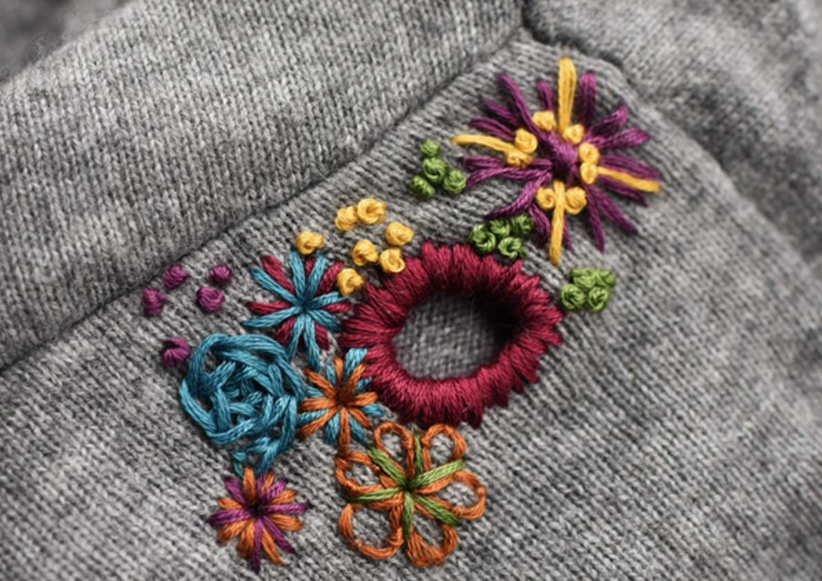 Transforming Holes Into Embroidered Decorations
