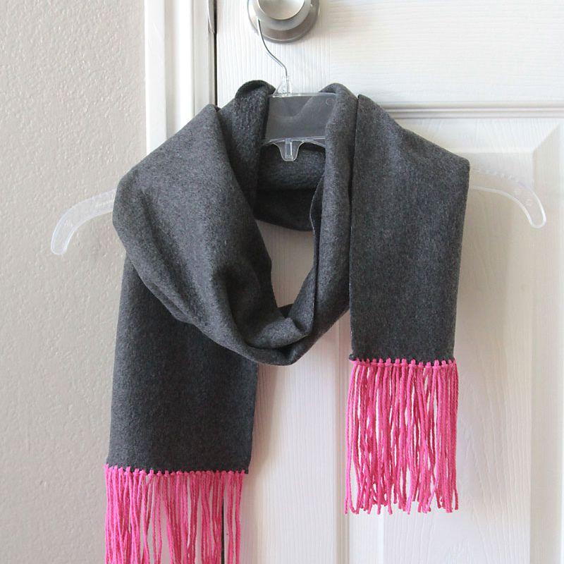 diy no sew fleece scarf