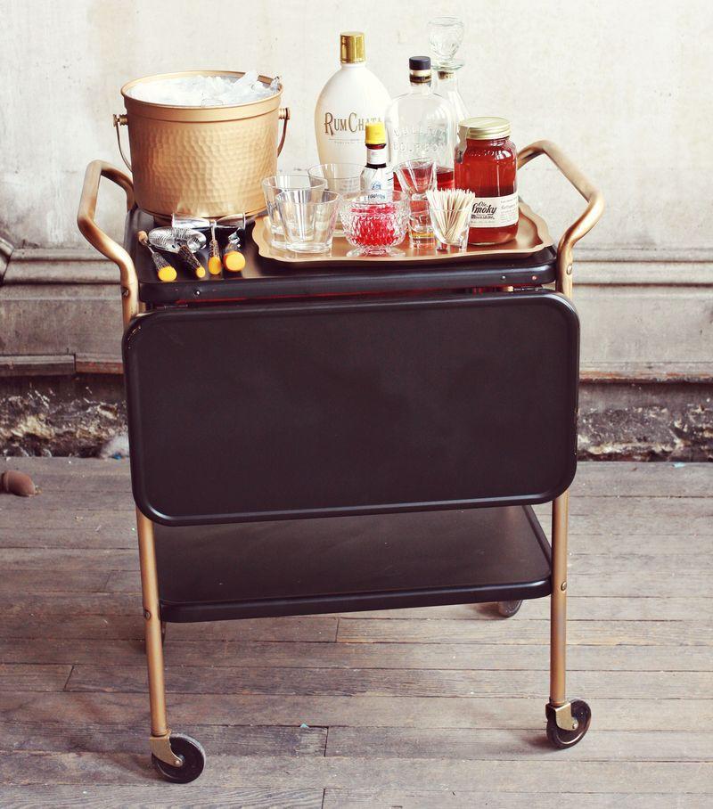 DIY Restyled Bar Cart