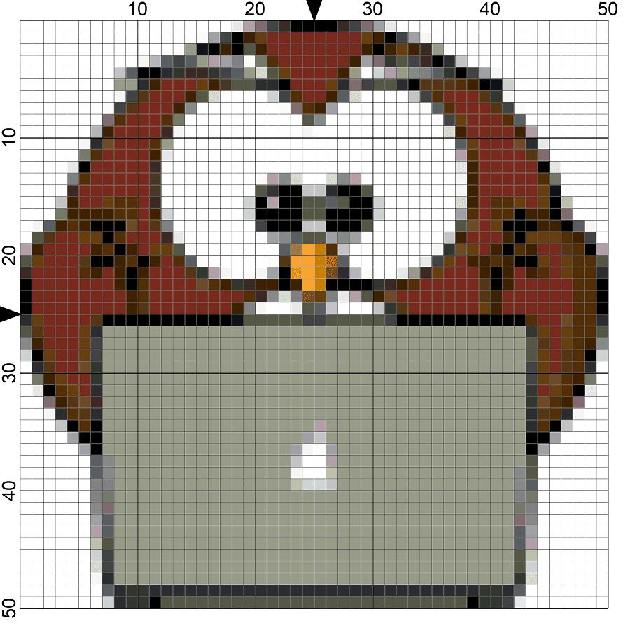 geeky owl needlepoint chart