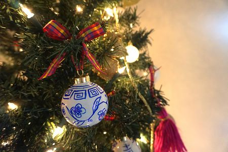 diy chinoiserie christmas ornaments for your tree