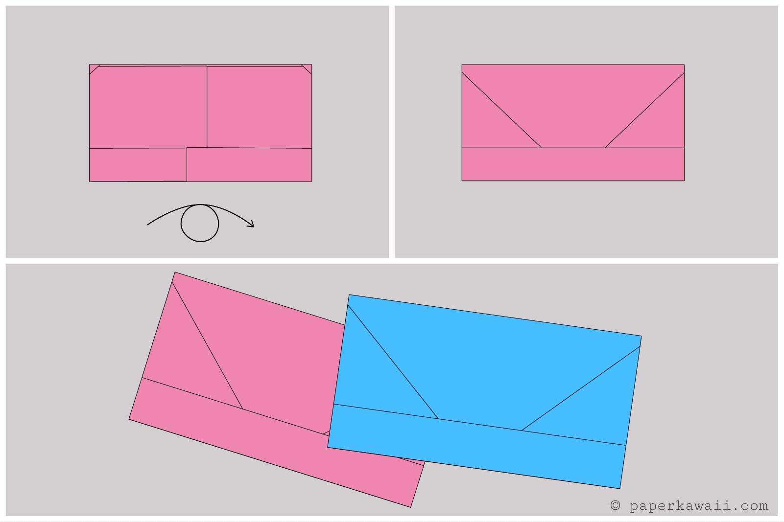 origami money envelope letterfold 3