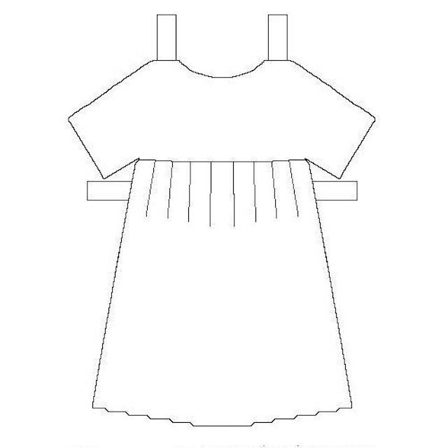 Printable Paper Doll Dress