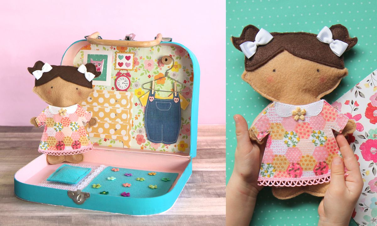 Felt Paper Doll Tutorial and Pattern