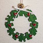 puzzle piece christmas tree ornaments - Recycled Christmas Ornaments