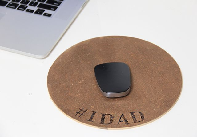DIY Engraved Wood Mouse Pad For Dad