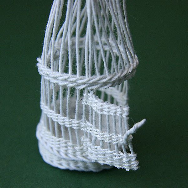 Weave a Dollhouse Scale Bird Cage From Wire and Thread
