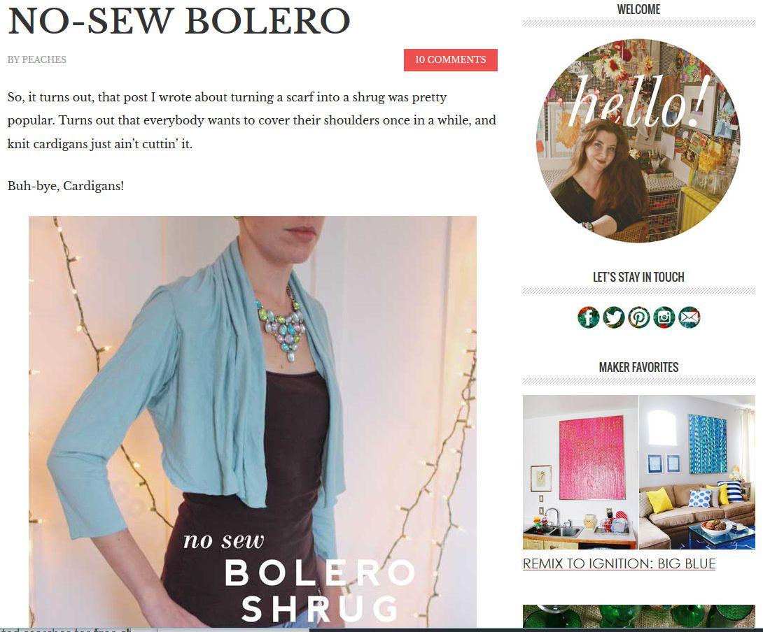 12 Free Shrug and Bolero Sewing Patterns
