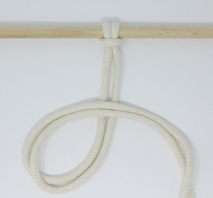 Forming a loop with two cords