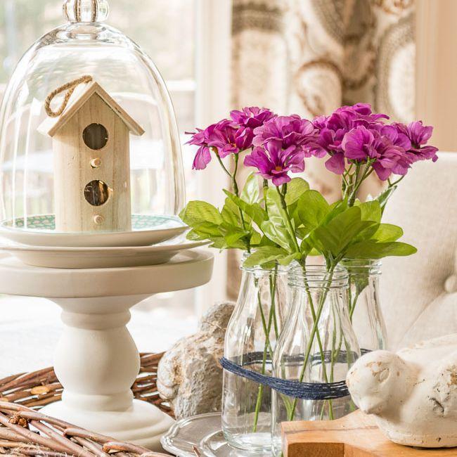 diy milk bottle flower arrangement