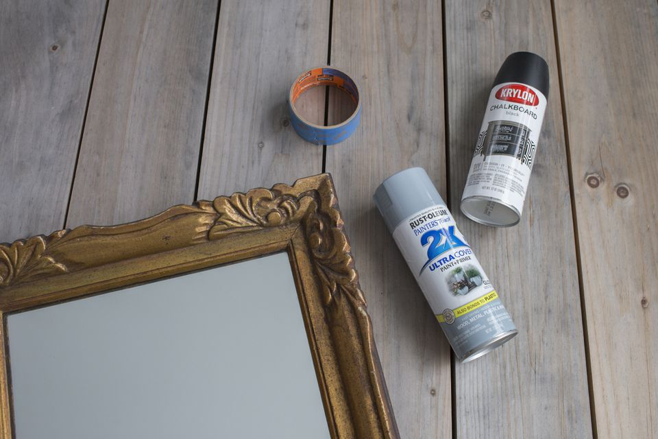 how to turn a mirror into s chalkboard