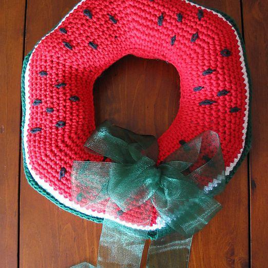 Watermelon Crochet Wreath