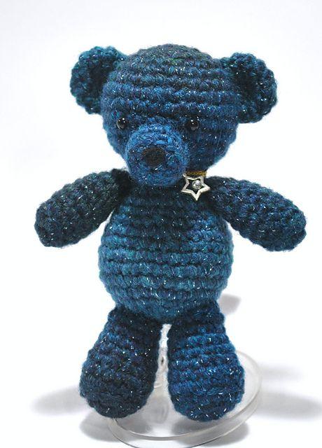 Blue Teddy Bear Free Crochet Pattern