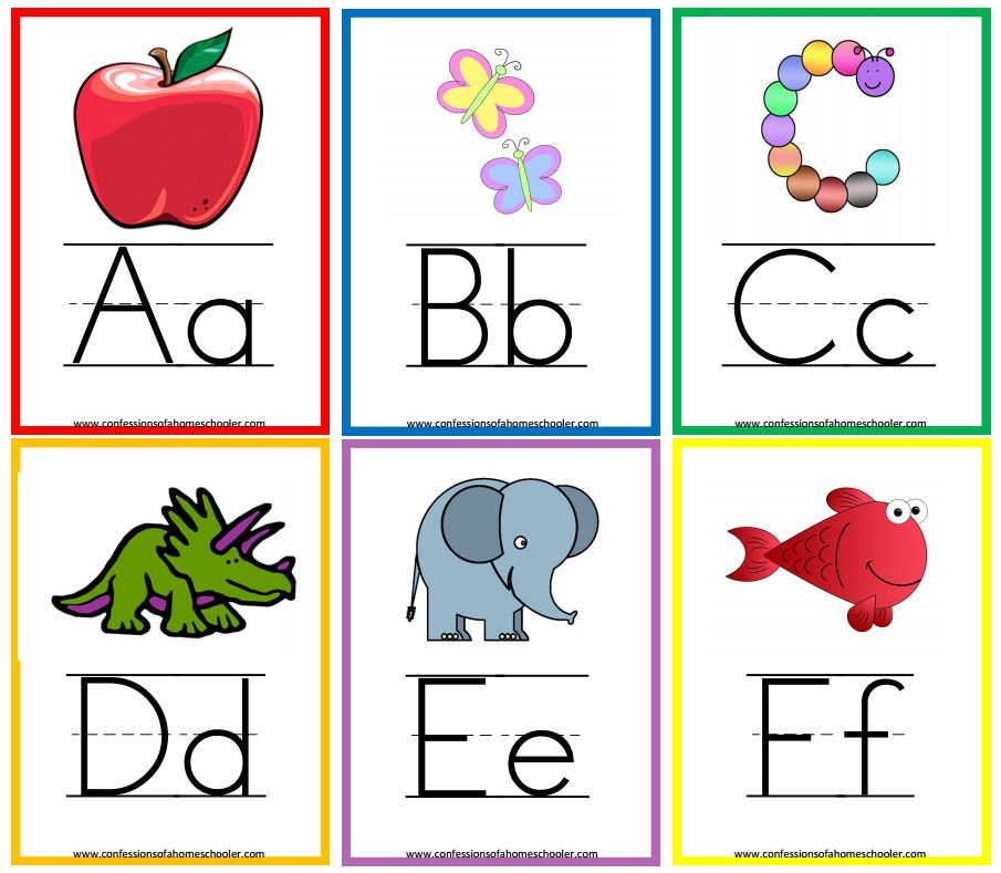 11 Sets Of Free Printable Alphabet Flashcards