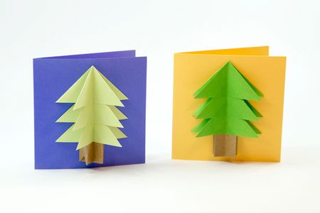 How To Make An Easy Origami Christmas Tree Card