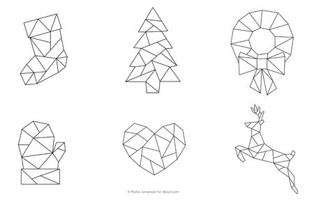 Christmas Geometric Embroidery Patterns