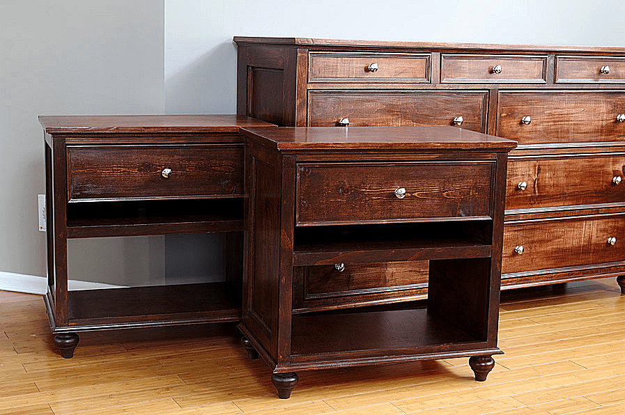 Picture Of Two Nightstands Next To A Matching Dresser