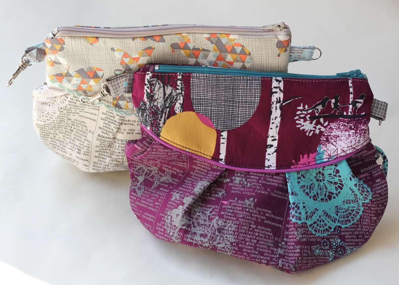 Pleated Zipper Clutch Bag