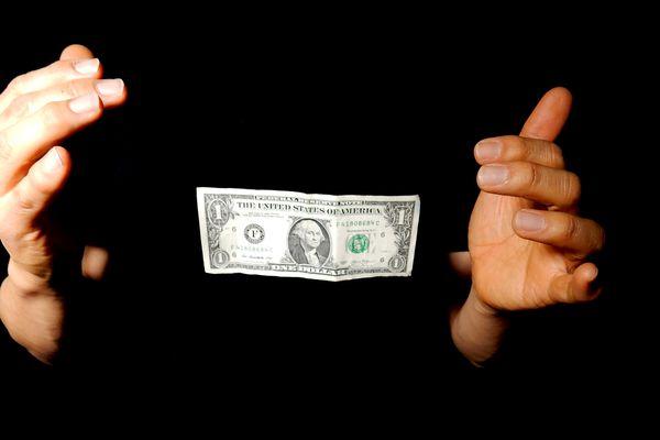 Levitating dollar bill
