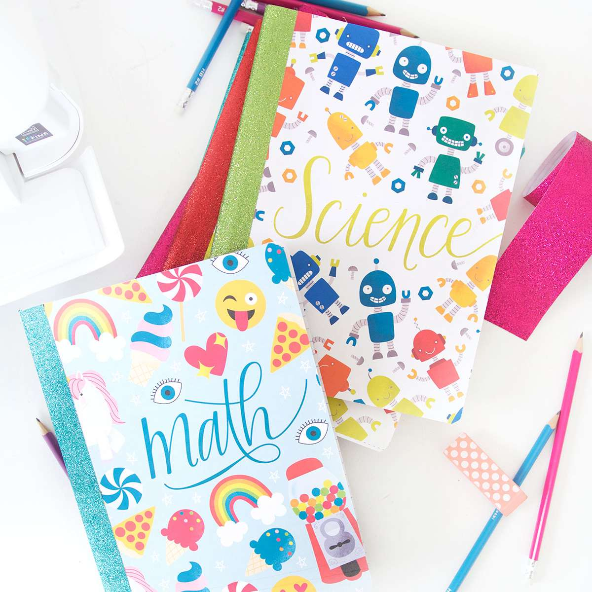 math and science printable notebook covers