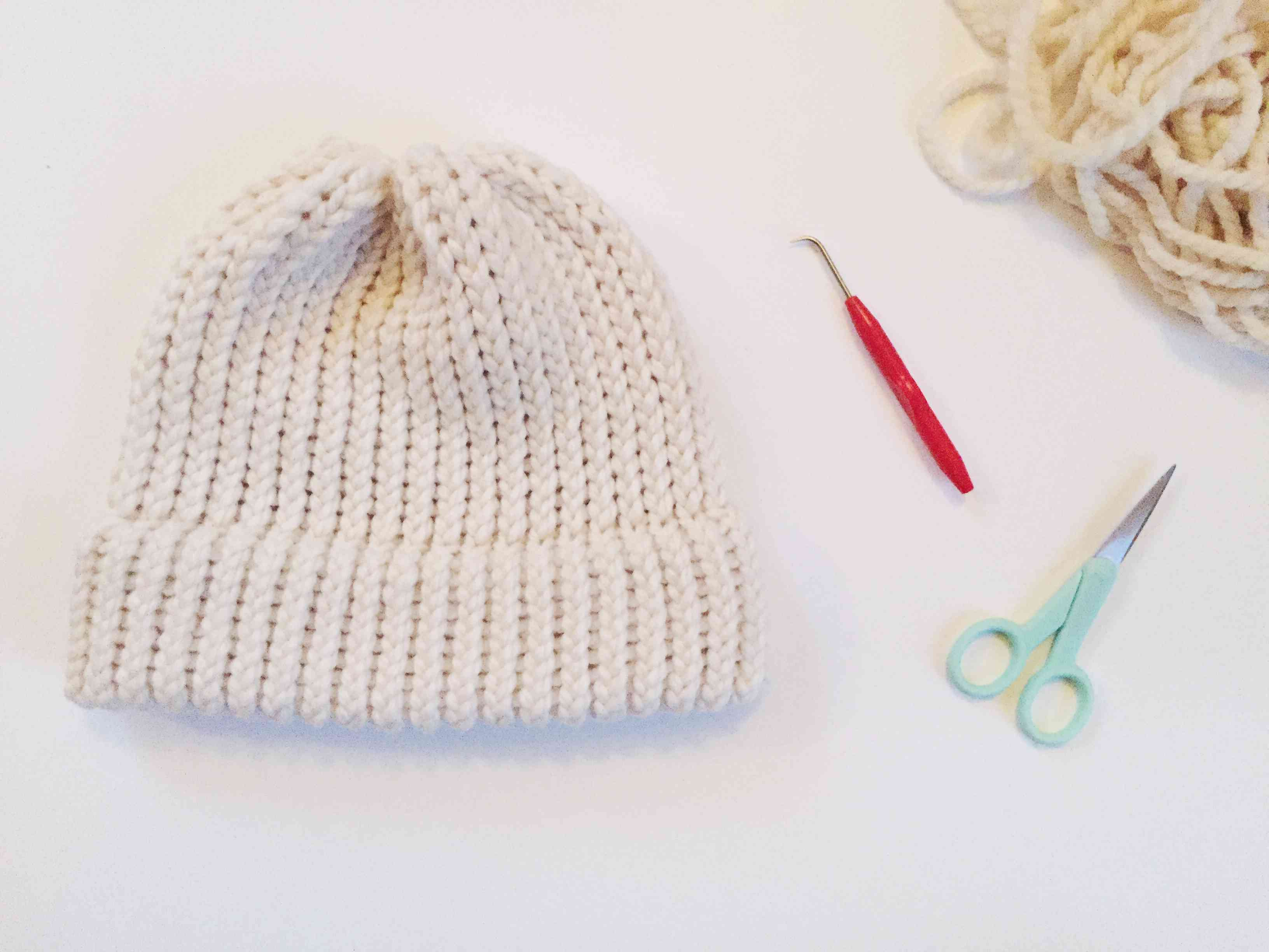 How to Loom Knit a Beanie