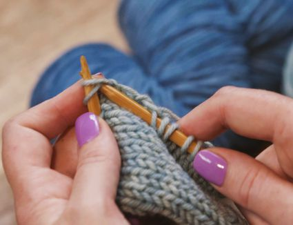 knit two together, k2tog