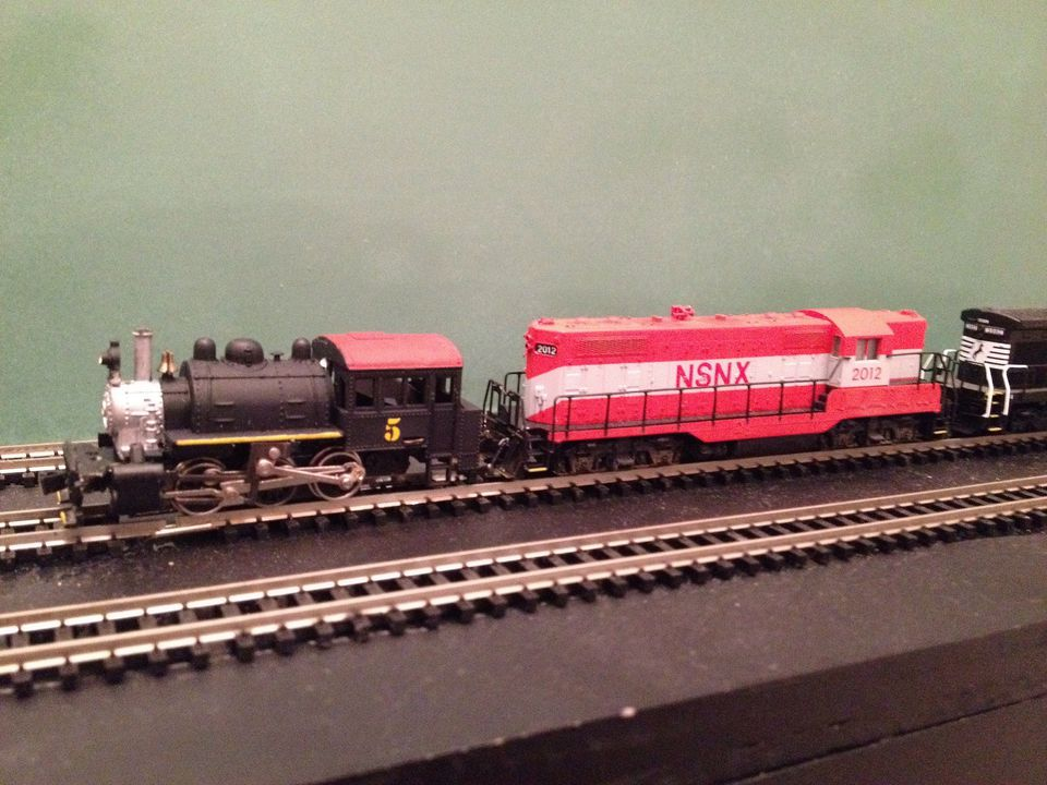 N scale train couplers